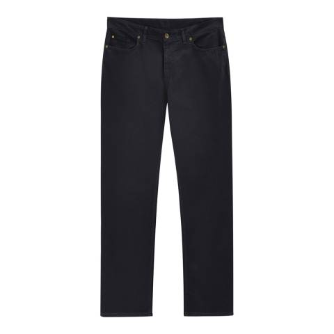Black Regular Fit Canvas Trousers Brandalley