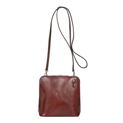 Giorgio Costa Brown Leather Embossed Cross Body Bag