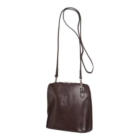 Giorgio Costa Dark Brown Polished Leather Crossbody