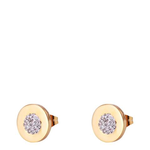 Chloe Collection by Liv Oliver Gold Crystal Stud Earrings