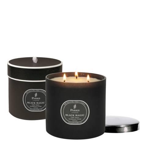 Parks London Cedar/Vetiver/Patchouli Three Wick Black Magic Candle