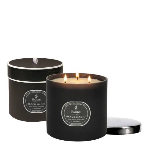 Parks London White Jasmine/Ylang Ylang Three Wick Black Magic Candle