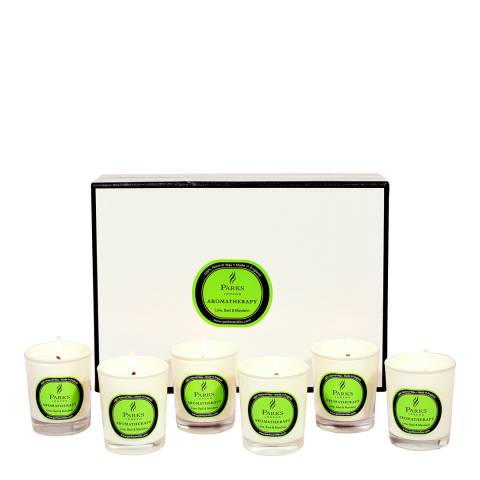 Parks London Set of Six Lime/Basil/Mandarin Aromatherapy Gift Candles