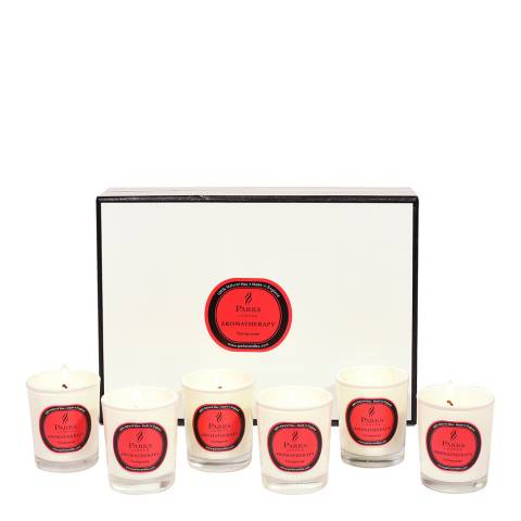 Parks London Set of Six Pomegranate Aromatherapy Gift Candles