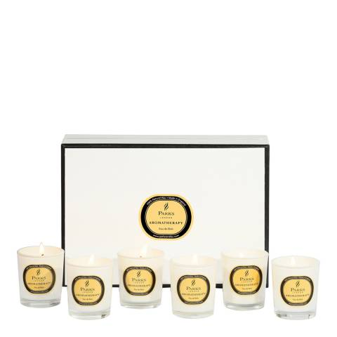 Parks London Set of Six Feu de Bois Aromatherapy Gift Candles