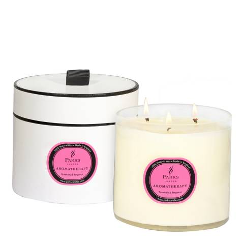 Parks London Rosemary/Bergamot Aromatherapy Three Wick Candle