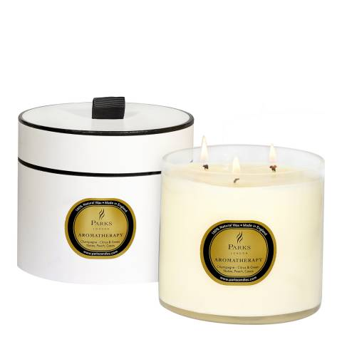 Parks London Champagne Aromatherapy Three Wick Candle