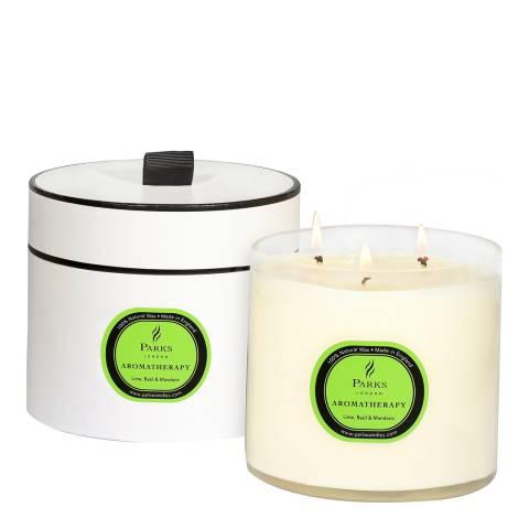 Parks London Lime/Basil/Mandarin Aromatherapy Three Wick Candle