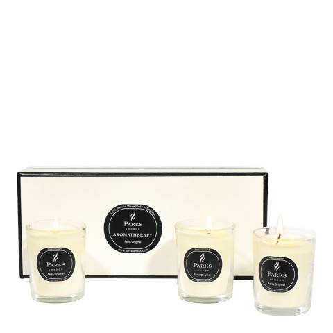 Parks London Set of Three Original Citrus Vanilla Scented Candles
