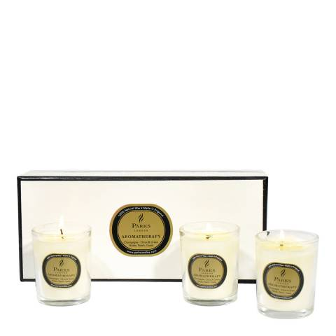 Parks London Set of Three Champagne Scented Candles