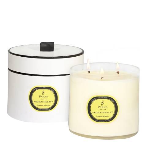 Parks London Grapefruit/Jasmine Aromatherapy Three Wick Candle