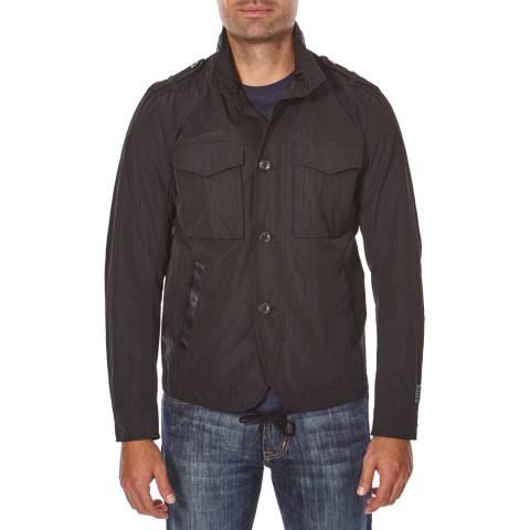 Diesel Black Cotton Blend Diesel Jacket