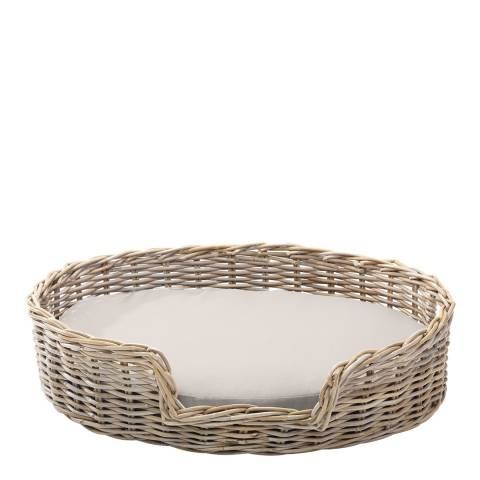 House Of Paws Rattan L Kubu Dog Basket 60x66cm