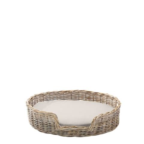 House Of Paws Rattan S Kubu Dog Basket 45x40cm