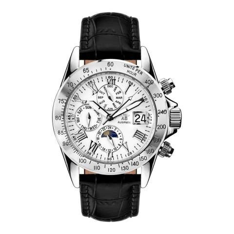 Andre Belfort Men's Black/White Le Capitaine Leather Watch