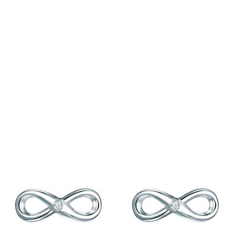 Tess Diamonds Silver Infinity Diamond Stud Earrings