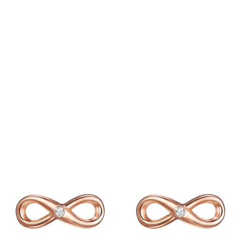 Tess Diamonds Rose Gold Infinity Diamond Stud Earrings