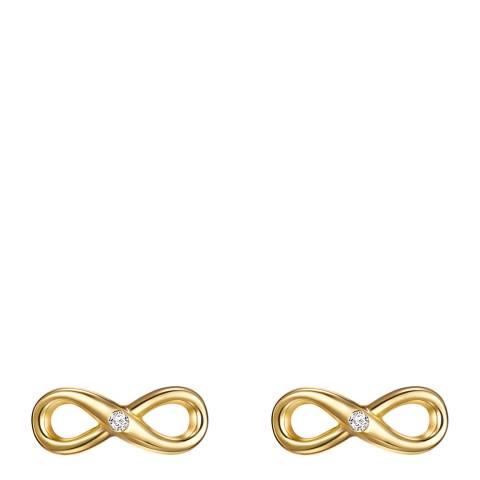 Tess Diamonds Gold Infinity Diamond Stud Earrings