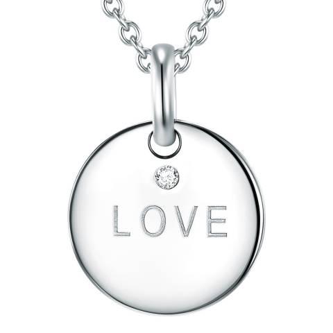 Tess Diamonds Silver Love Diamond Pendant Necklace