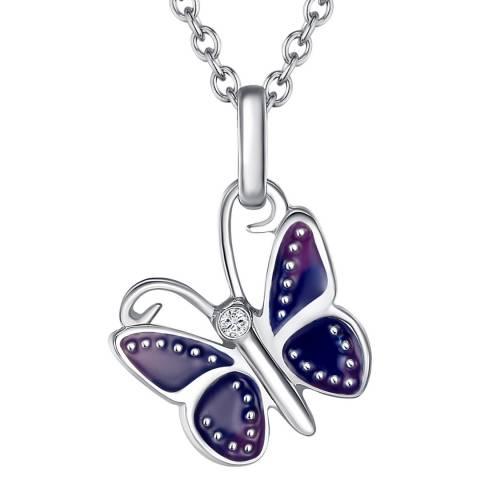 Tess Diamonds Sterling Silver Sparkling Pendant Necklace