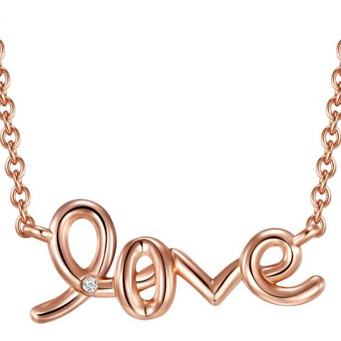 Tess Diamonds Rose Gold Love Diamond Necklace
