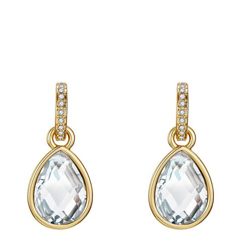Lilly & Chloe Light Gold Swarovski Crystal Elements Drop Earrings