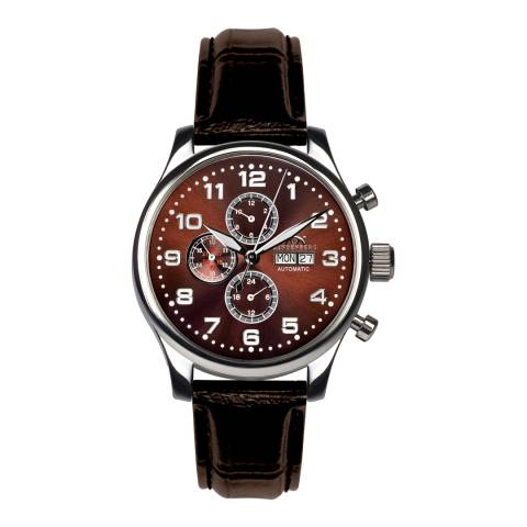 Hindenberg Men's Brown Leather Excellence Watch