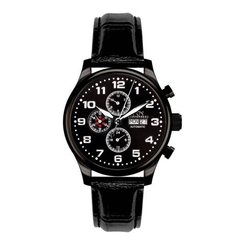 Hindenberg Men's Black Leather Excellence Watch