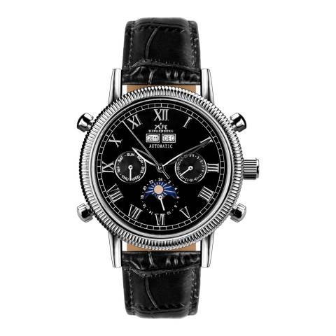 Hindenberg Men's Black Leather Air Classic Watch