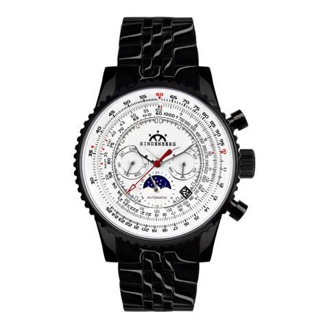 Hindenberg Men's Black/White Stainless Steel Air Fighter Watch