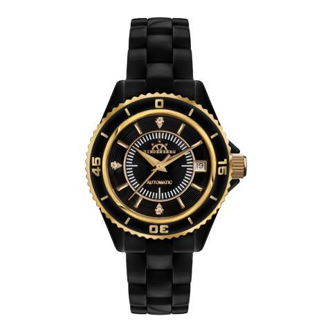 Hindenberg Women's Black/Gold Ceramic Galaxy Watch