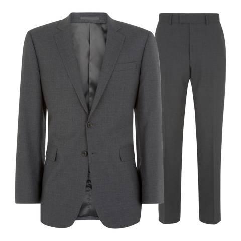Jaeger Charcoal Classic Plainweave Wool Blend Suit
