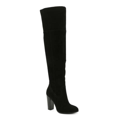 Aldo Black Suede Bove Long Boots Heel 10cm