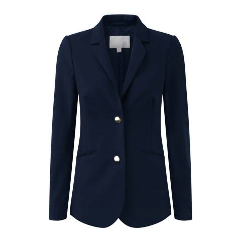 Pure Collection Navy Wool Blazer