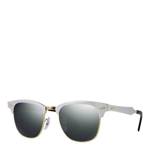Ray-Ban Men's Silver Mirror Clubmaster Sunglasses 51mm