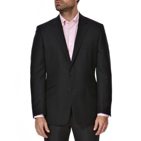 Aquascutum Navy Pritchard Plainweave Wool Suit Jacket