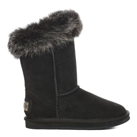 Australia Luxe Collective Black Suede Foxy Shearling Boots