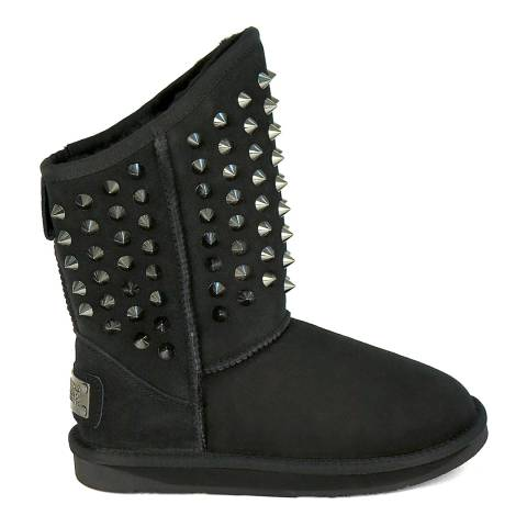 Australia Luxe Collective Black Suede Pistol Stud Boots