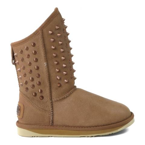 Australia Luxe Collective Chestnut Suede Pistol Stud Boots