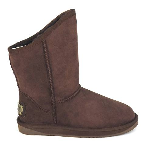 Australia Luxe Collective Dark Brown Suede Cosy Short Boots