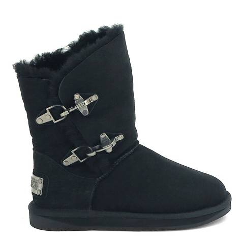 Australia Luxe Collective Black Suede Renegade Buckle Boots