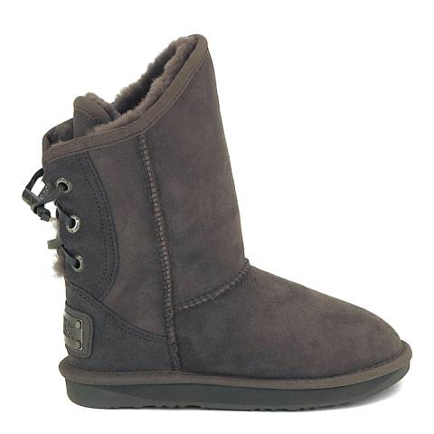 Australia Luxe Collective Grey Suede Dita Short Boots