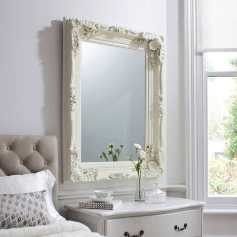 Gallery Cream Carved Louis Wall Mirror 120x89cm