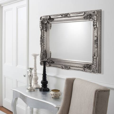 Gallery Silver Carved Louis Wall Mirror 120x89cm