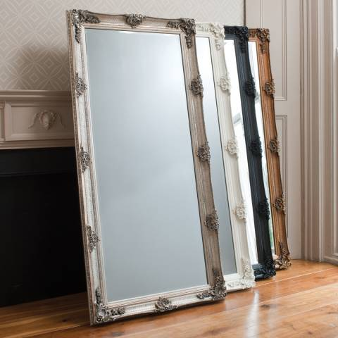 Gallery Black Abbey Leaner Mirror 165x79cm
