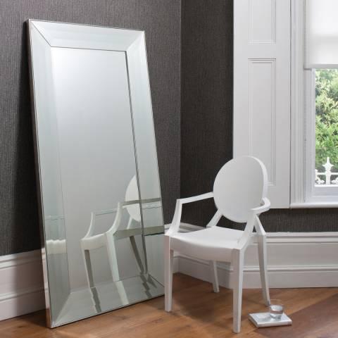 Gallery Silver Ferrara Leaner Mirror 182x91cm