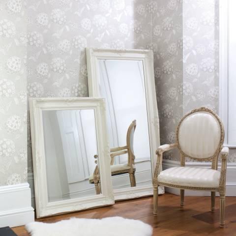Gallery Cream Harrow Rectangle Mirror 115x83cm
