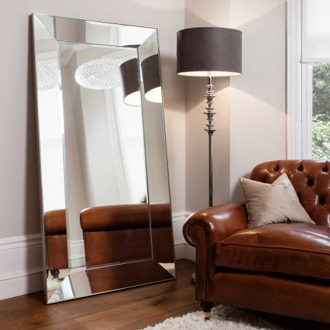 Gallery Silver Vasto Leaner Mirror 72 x 36 Inches