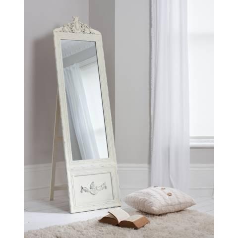 Gallery Cream Cheval Belvedere Vintage Mirror 192x52cm