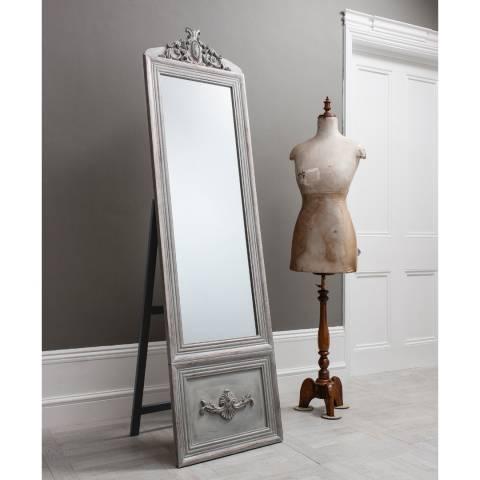 Gallery Silver Belvedere Vintage Cheval Mirror 192x52cm